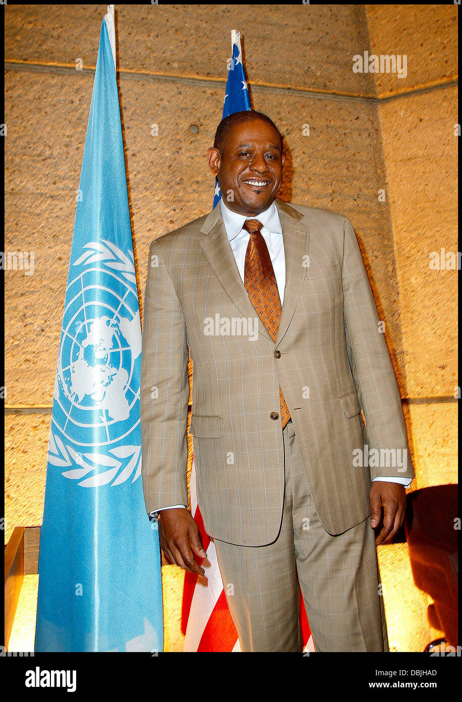 Forest Whitaker nomination as goodwill ambassador for peace and reconciliation for the United Nations' educational, - Stock Image
