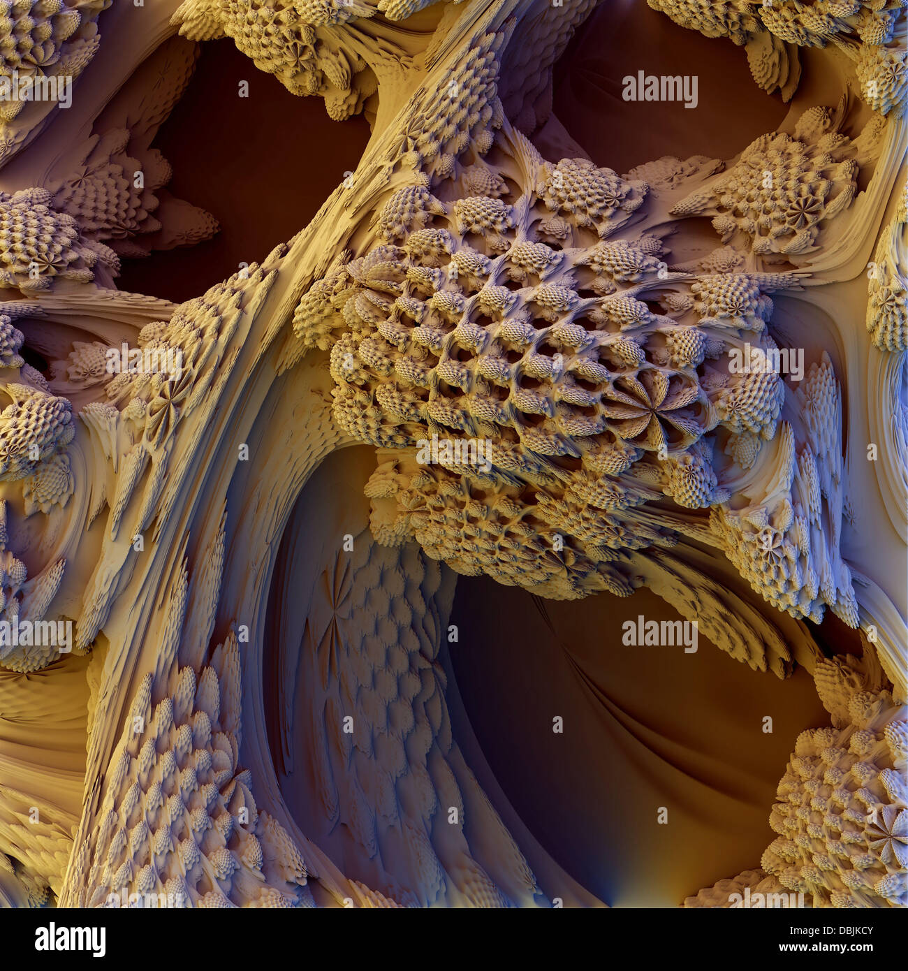 3-D MANDELBULB WORLD BOUGHT TO LIFE BY MATHS GEEKS  Photo shows: Honey Comb Heaven  A collection of amazing 3 dimensional - Stock Image