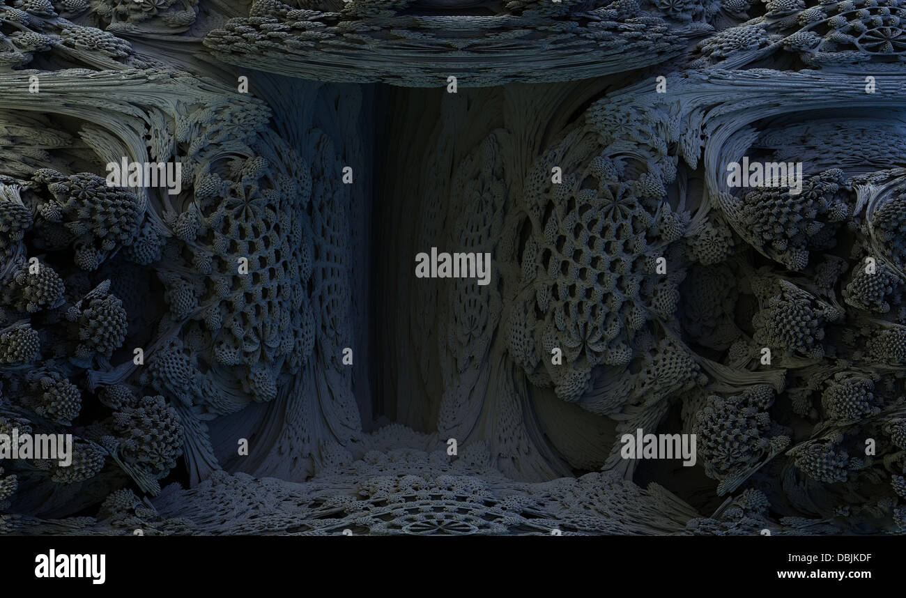 3-D MANDELBULB WORLD BOUGHT TO LIFE BY MATHS GEEKS  Photo shows: Mystery Cave  A collection of amazing 3 dimensional - Stock Image