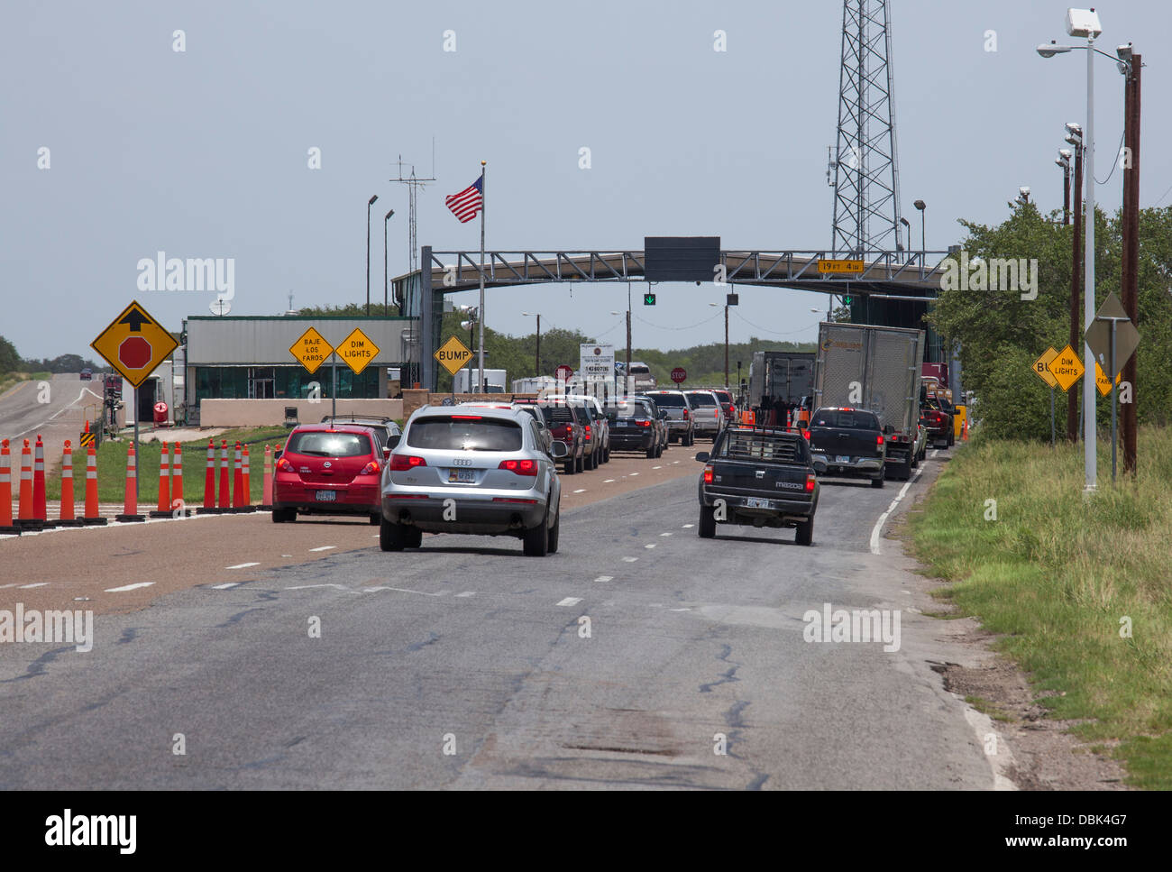 The Permanent U S Border Patrol Checkpoint On Highway 281 In Texas About 70 Miles North Of The Border