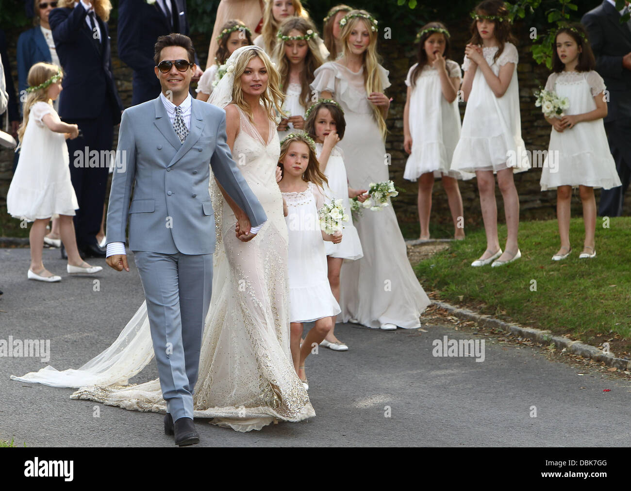 The marriage ceremony of Kate Moss was held in the small old church of St. Margaret 07/02/2011 71