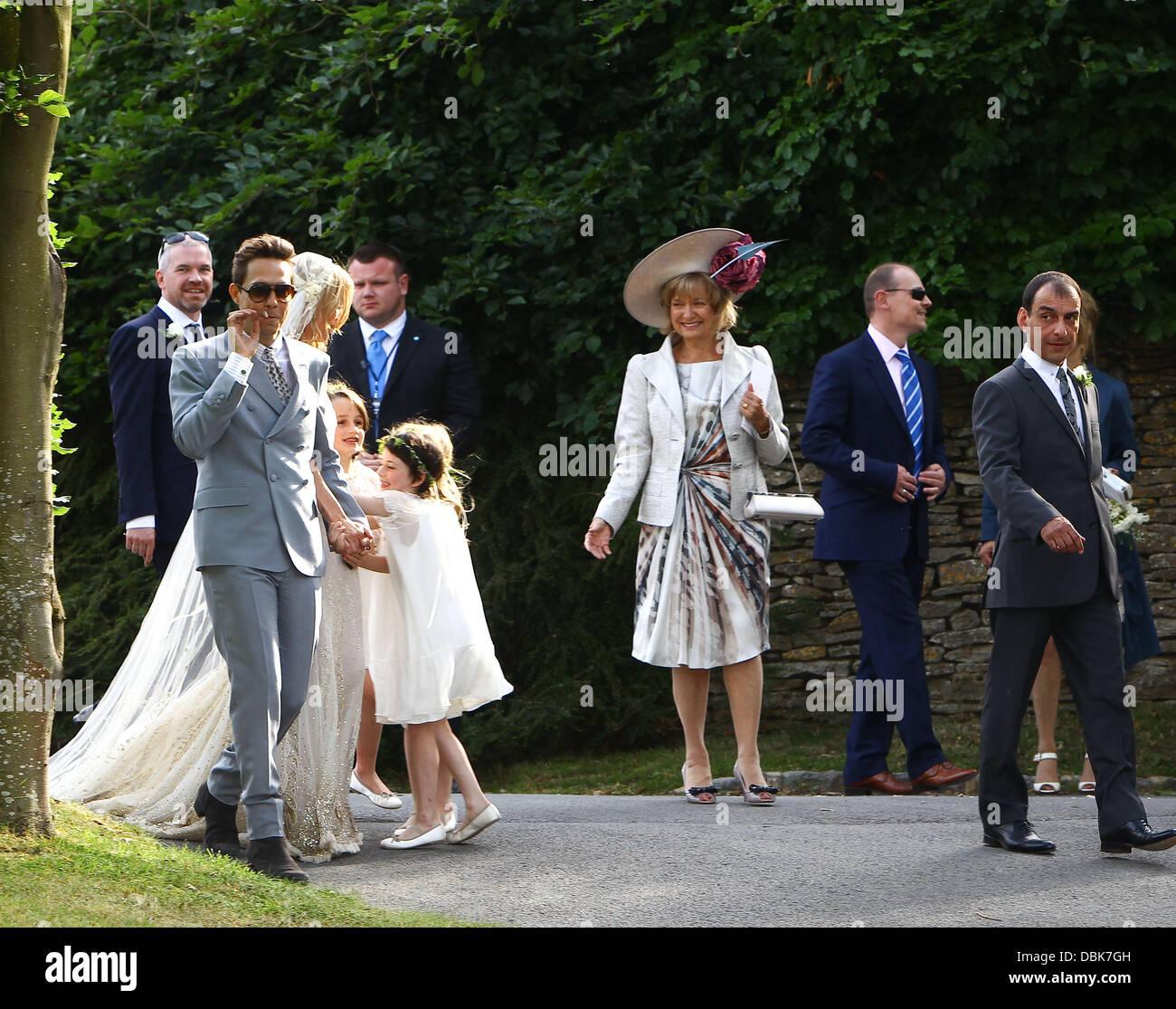 The marriage ceremony of Kate Moss was held in the small old church of St. Margaret 07/02/2011 69