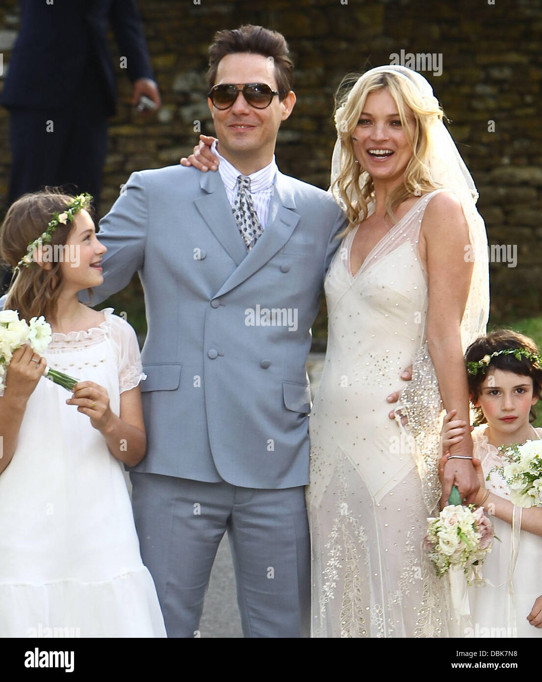 The marriage ceremony of Kate Moss was held in the small old church of St. Margaret 07/02/2011 8