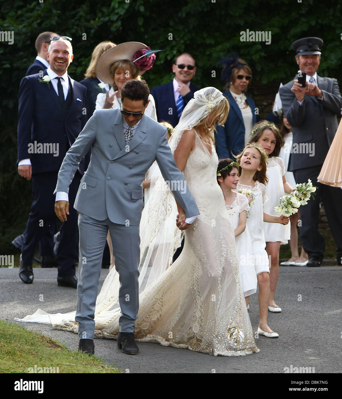 The marriage ceremony of Kate Moss was held in the small old church of St. Margaret 07/02/2011 45