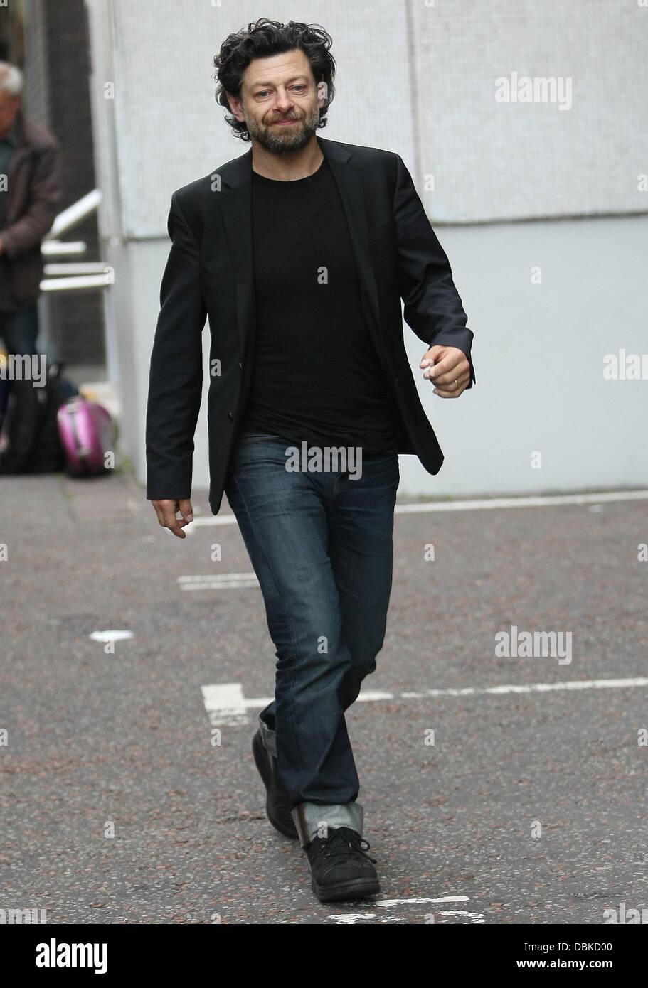 Andy Serkis outside the ITV studios London, England - 04.07.11 - Stock Image