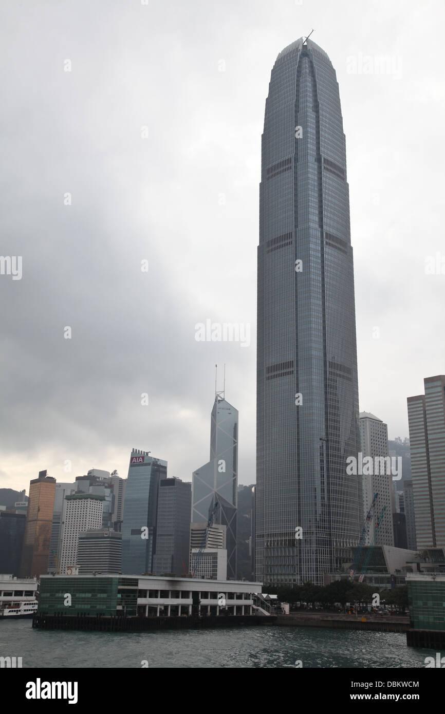 IFC Building Hong Kong Sar China - Stock Image