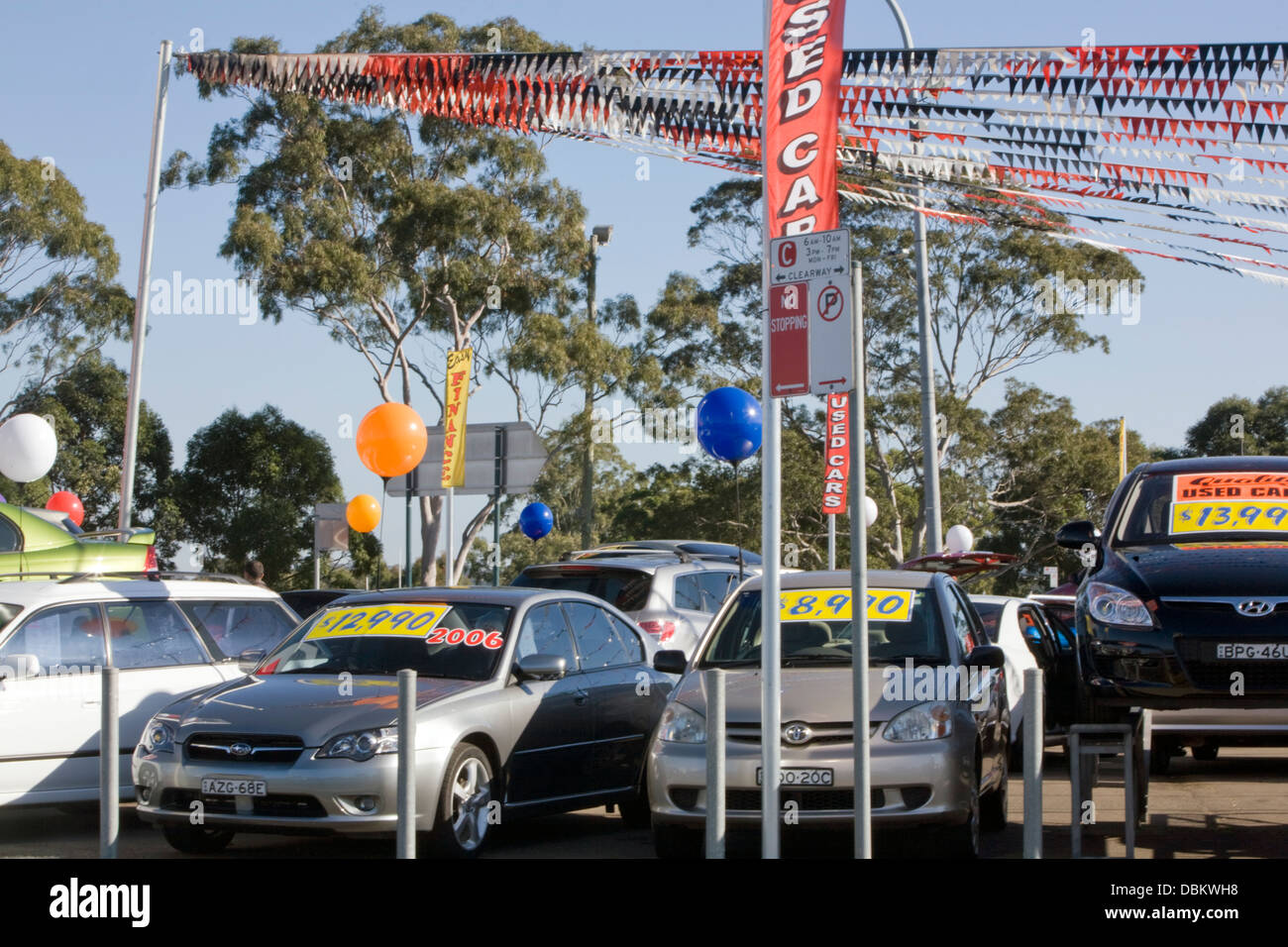 used cars for sale at a car lot in sydney,australia Stock Photo ...