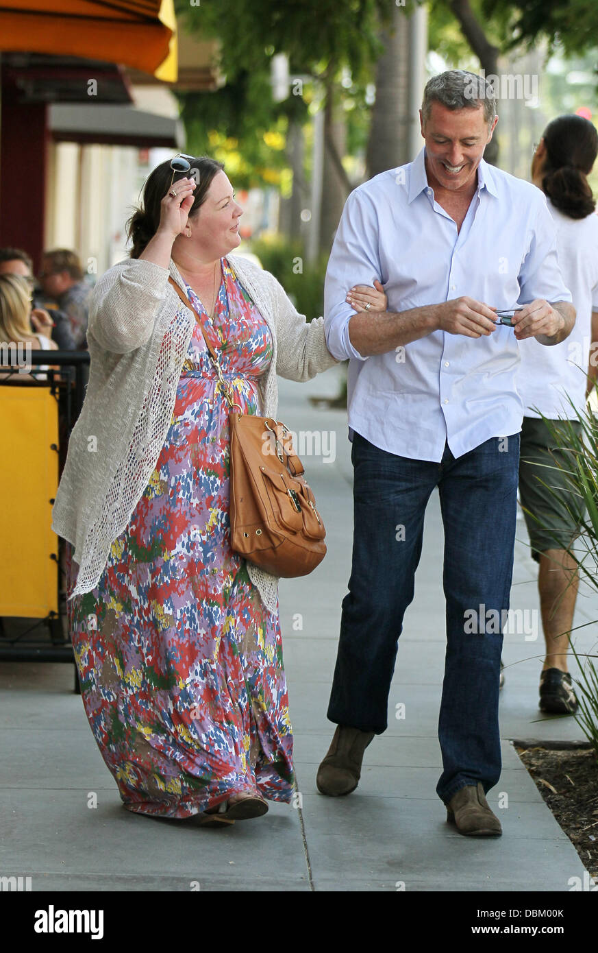 Michael James McDonald and Melissa McCarthy leaving The Farm after having lunch together in Beverly Hills Los Angeles, - Stock Image