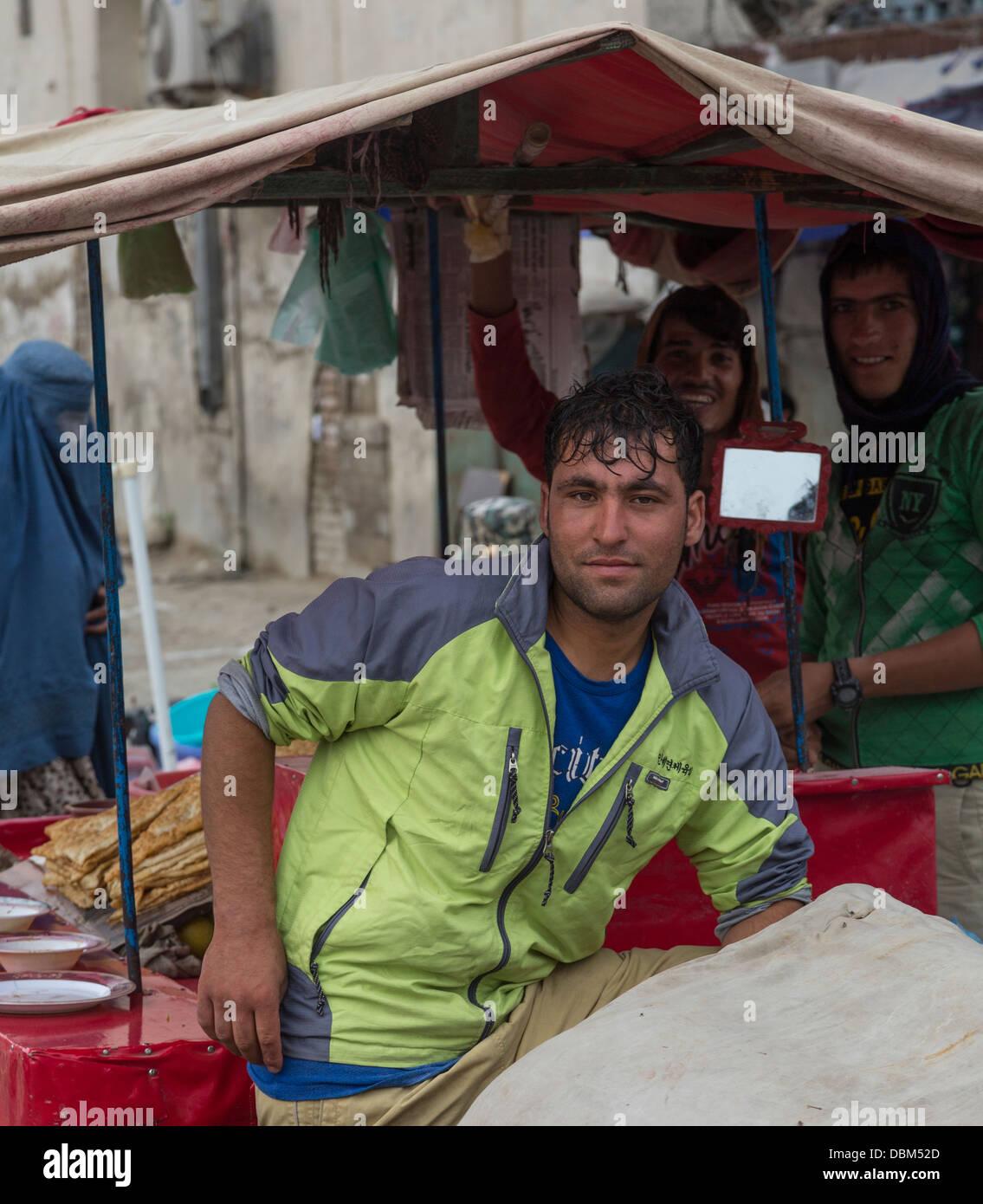 bazaar worker, Kabul, Afghanistan - Stock Image