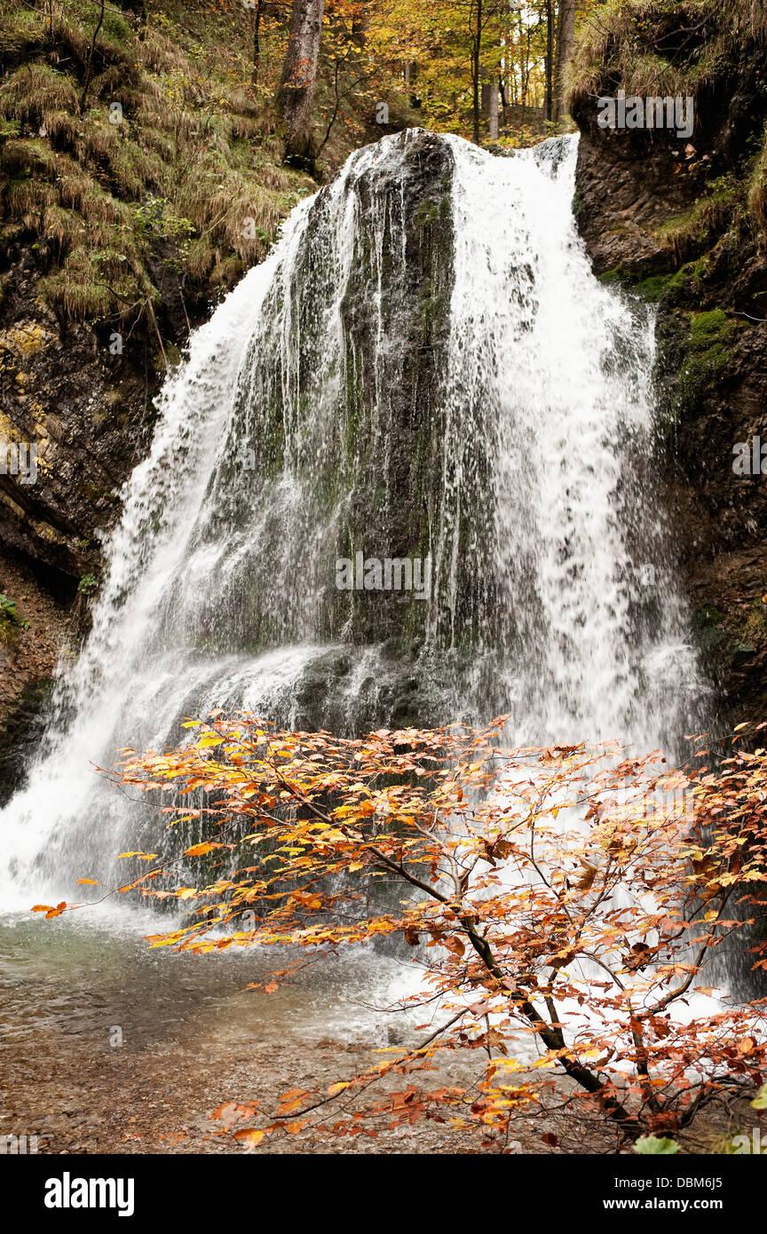 Waterfall, Bavaria, Germany, Europe - Stock Image