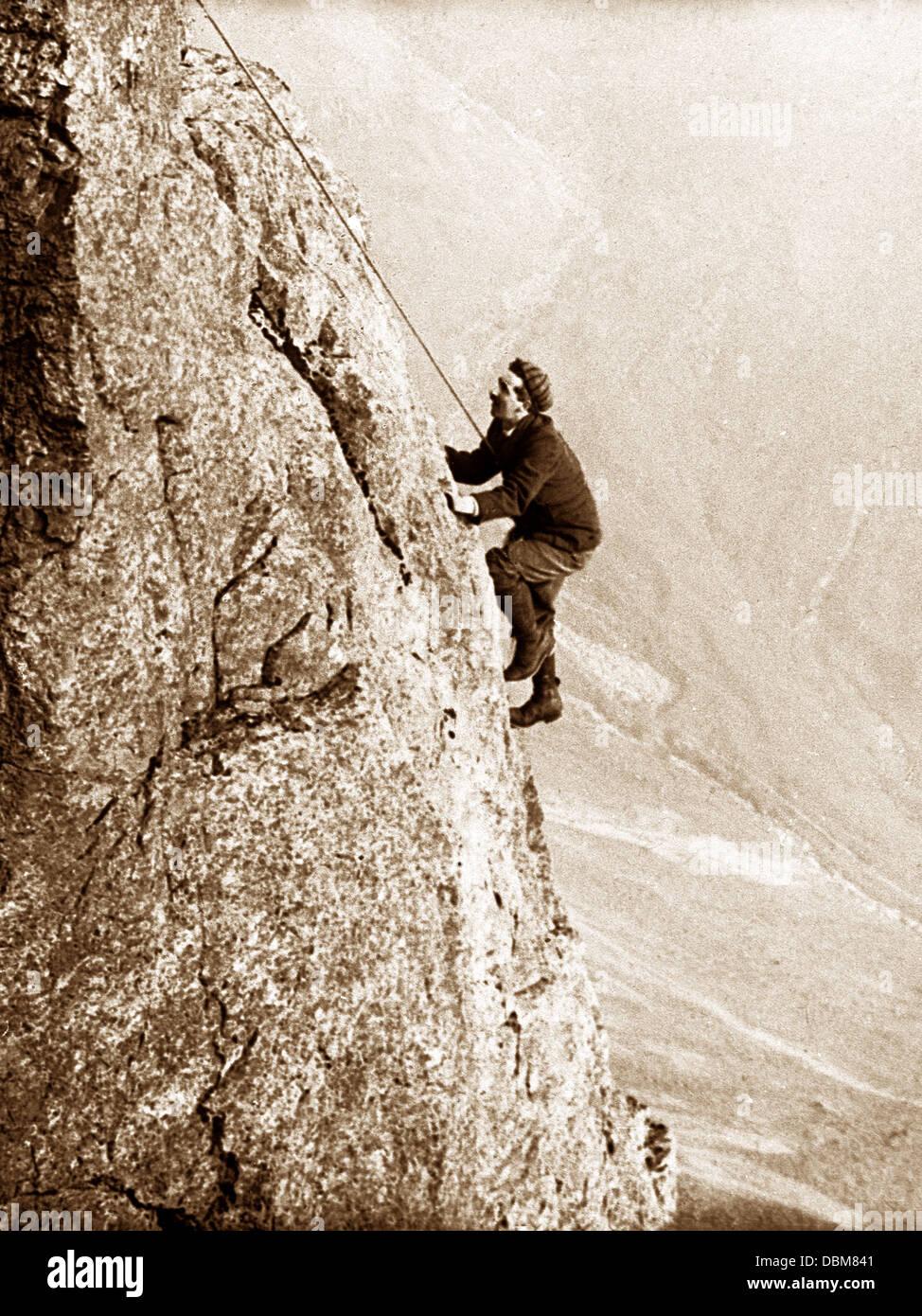 Climbing Great Gable Eagle's Nest Arete Victorian period - Stock Image