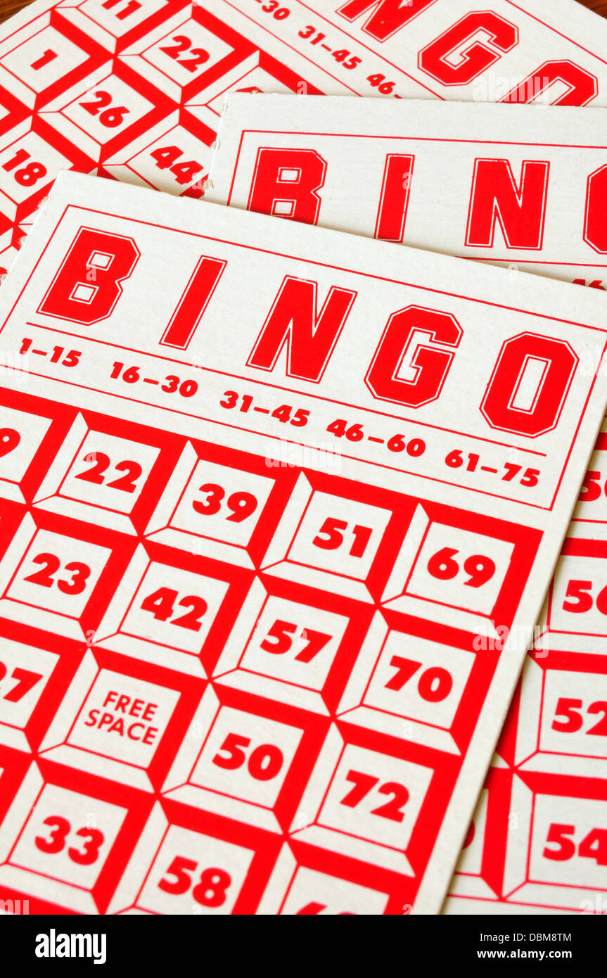 Bingo card slips - Stock Image