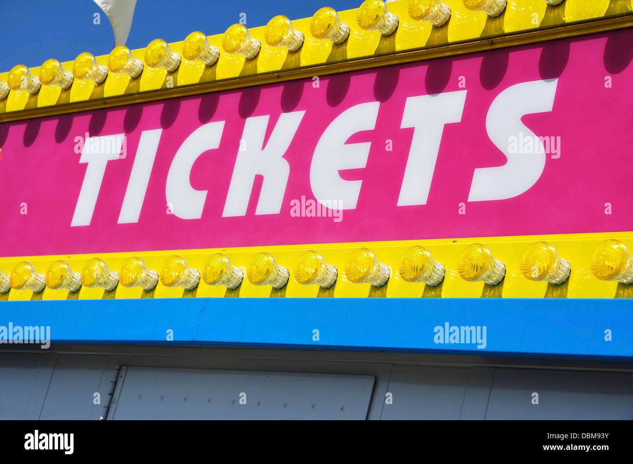 Ticket Booth Sign - Stock Image