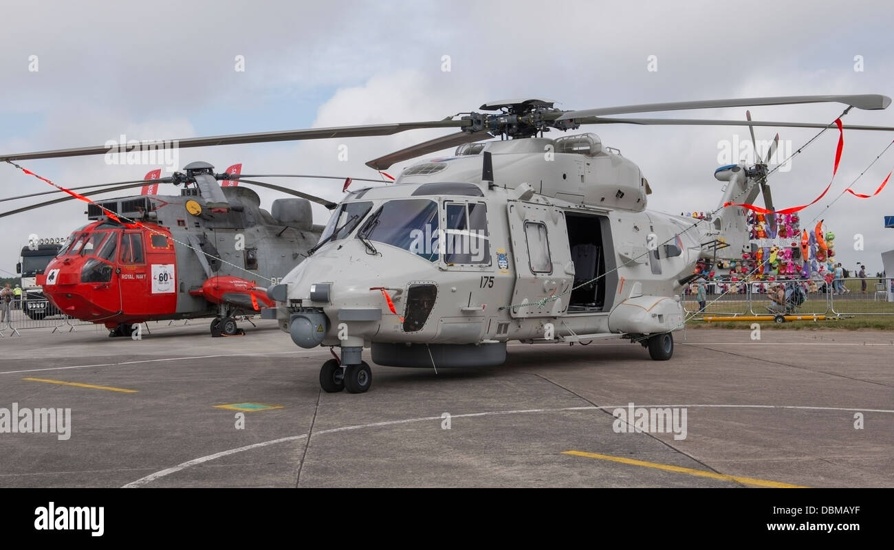 Dutch Air Force NH 90 Helicopter on the static display line at RNAS Culdrose (c) Bob Sharples/Alamy - Stock Image