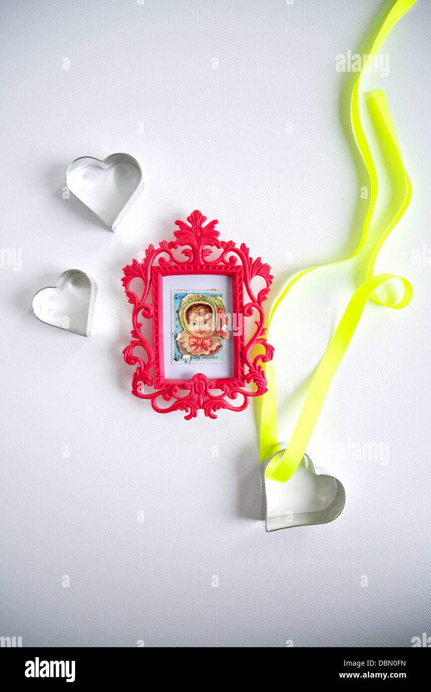Heart Shaped Cookie Cutters, Munich, Bavaria, Germany Stock Photo