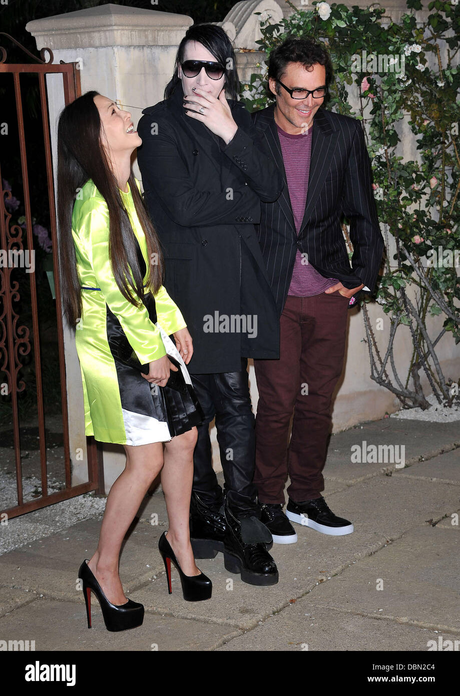 China Chow, Marilyn Manson and David Lachapelle Miu Miu presents Lucrecia Martel's 'Muta' party held - Stock Image