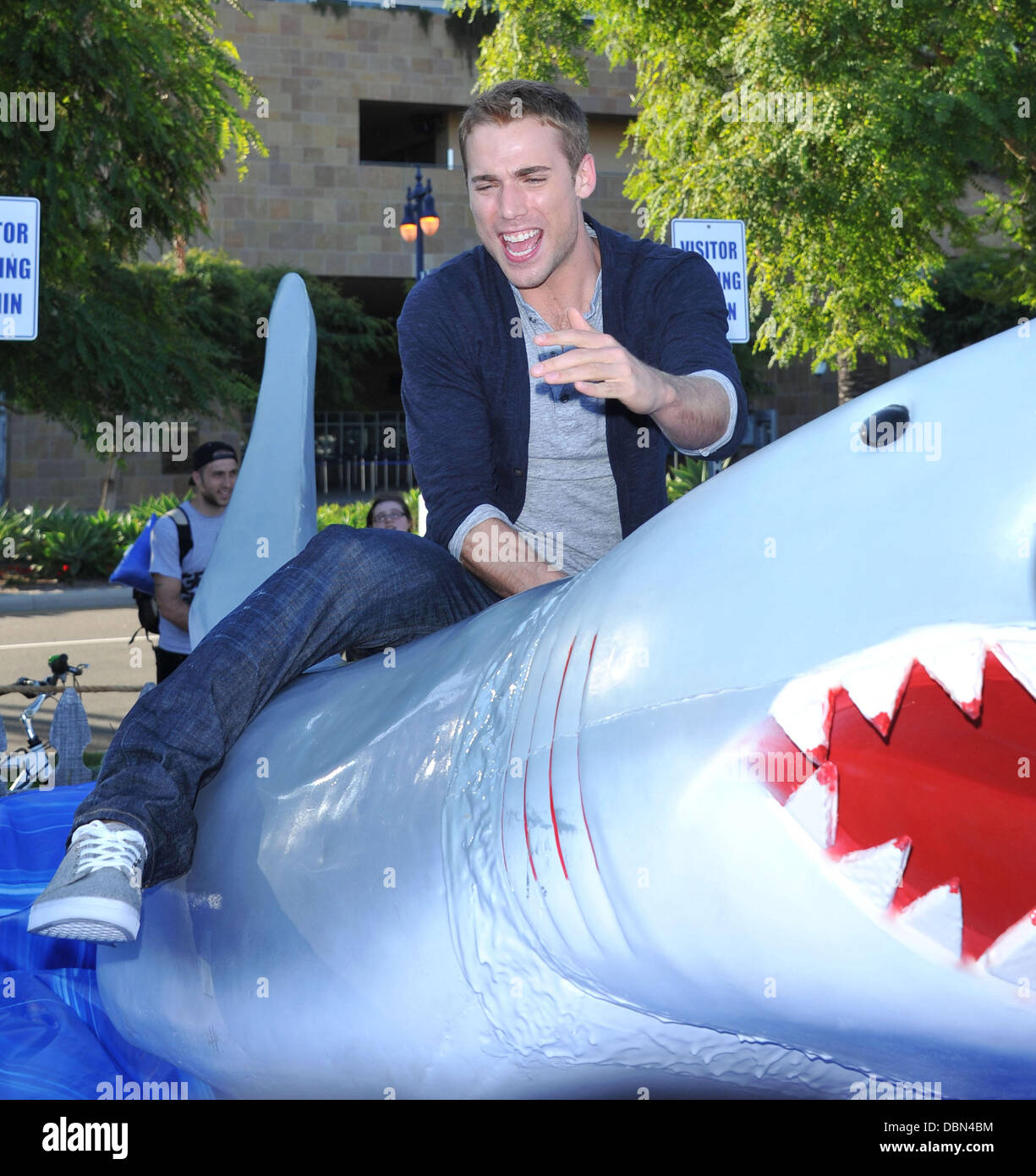 Dustin Milligan     'Shark Night 3D' photo op held at Petco park.  Los Angeles, California - 20.07.11 Stock Photo