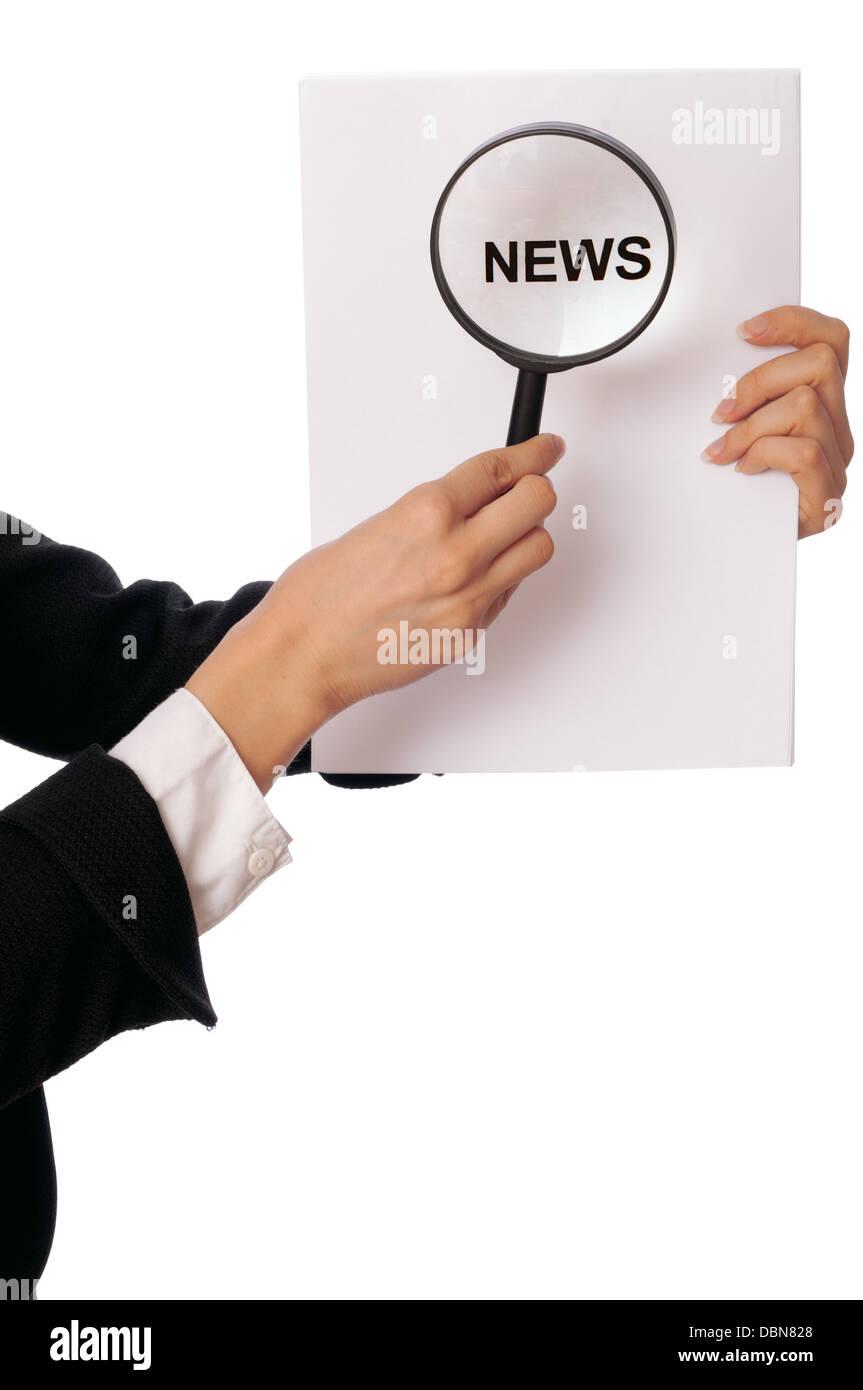 preparing hot news Stock Photo