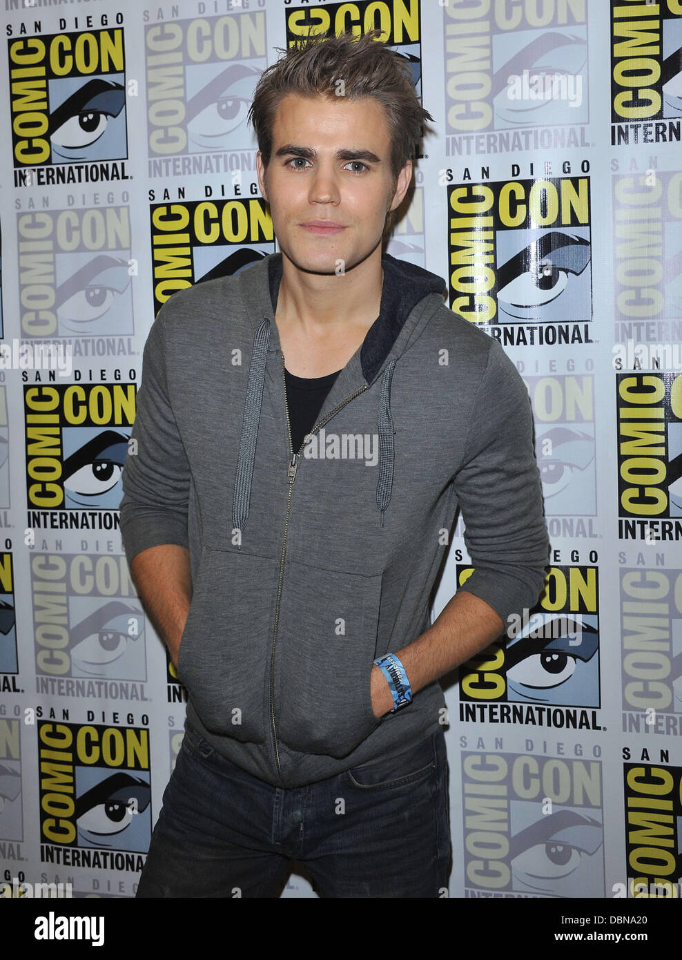 Paul Wesley at the 'Vampire Diaries' press conference at the Convention Center  Comic-Con 2011 - Celebrities - Stock Image