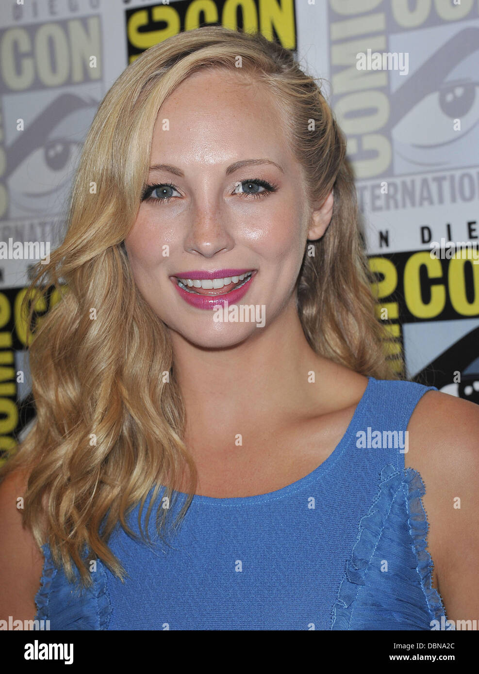 Candice Accola at the 'Vampire Diaries'  press conference at the Convention Center  Comic-Con 2011 - Celebrities - Stock Image