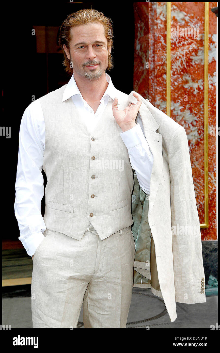 Brad Pitt's waxwork is unveiled at the Musee Grevin Paris, France - 26.07.11 - Stock Image