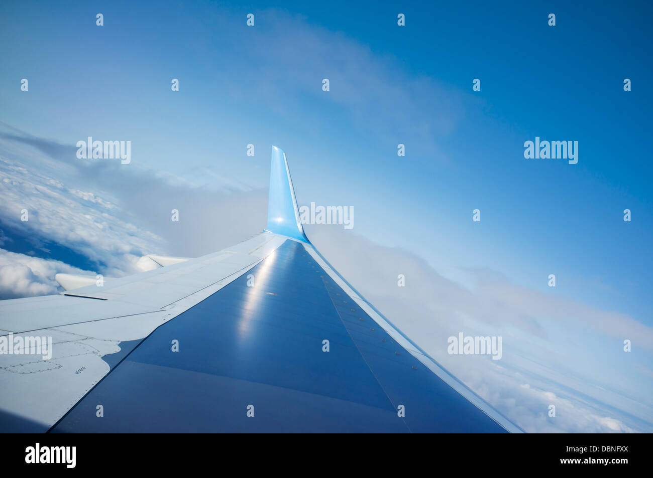 Close-up of airplane wing - Stock Image