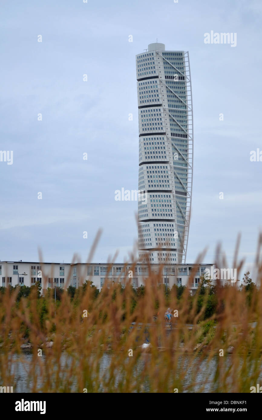 Turning Torso, Malmo, Sweden. The tallest sky scraper in Sweden. Contains apartments. - Stock Image