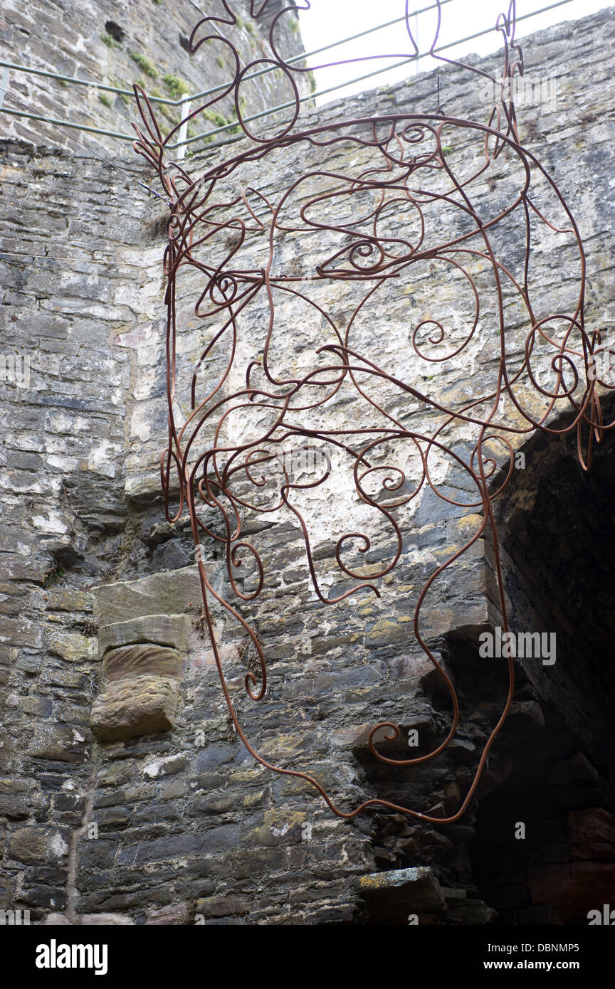 The King's Head by Gideon Petersen 2012. Conway Castle, Wales, UK - Stock Image