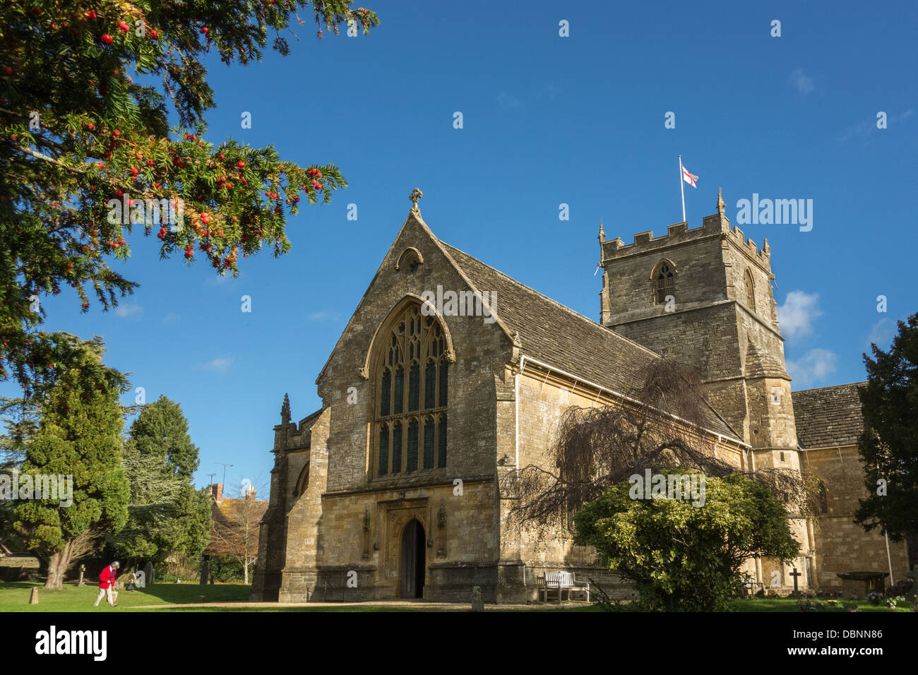 The ancient Christian church of St John the Evangelist, Milborne Port, Somerset, UK Stock Photo