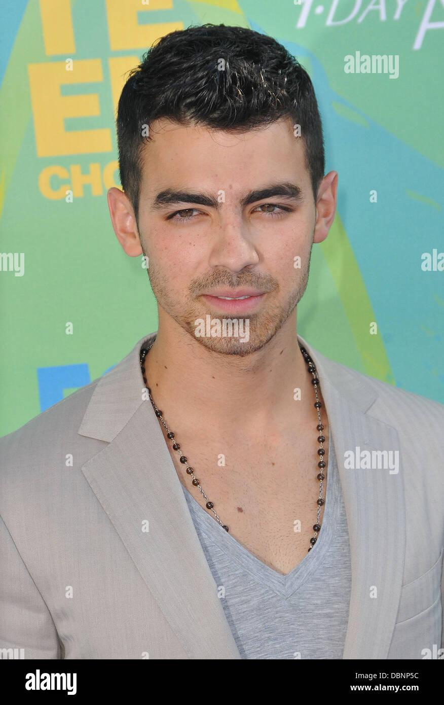 Joe Jonas 2011 Teen Choice Awards Held At Gibson Amphitheatre Stock