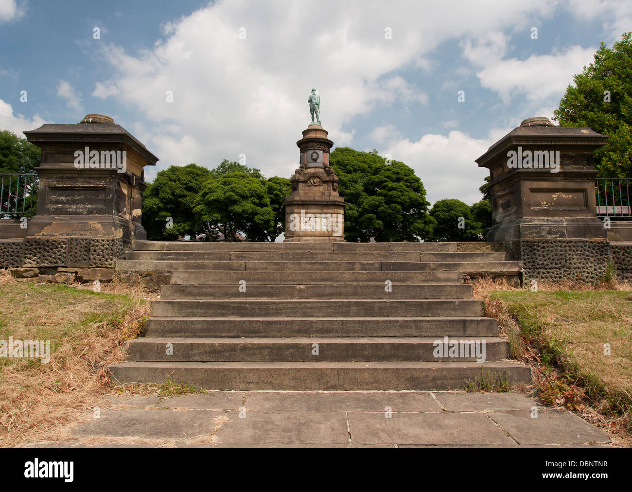 memorial statue to soldiers killed in the boer war, - Stock Image