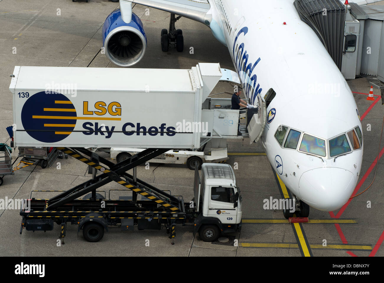 LSG Sky Chefs airline catering Dusseldorf Germany - Stock Image