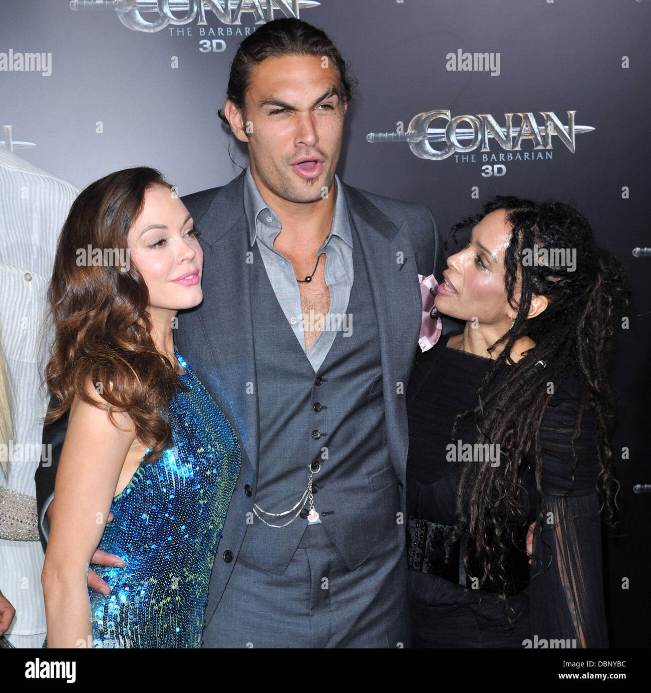 Rose McGowan, Jason Momoa, And Lisa Bonet The LA Premiere