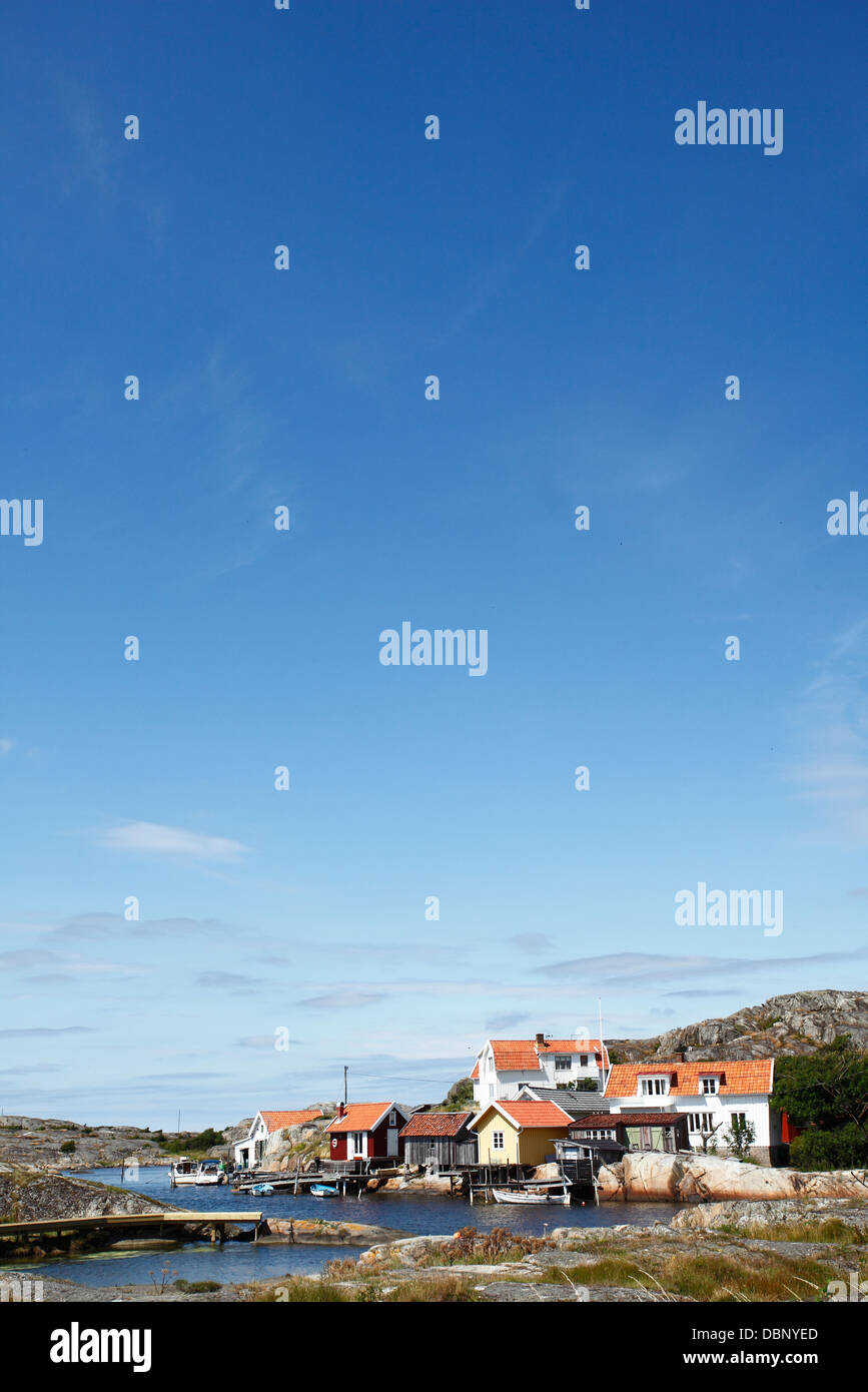 View of human settlement - Stock Image