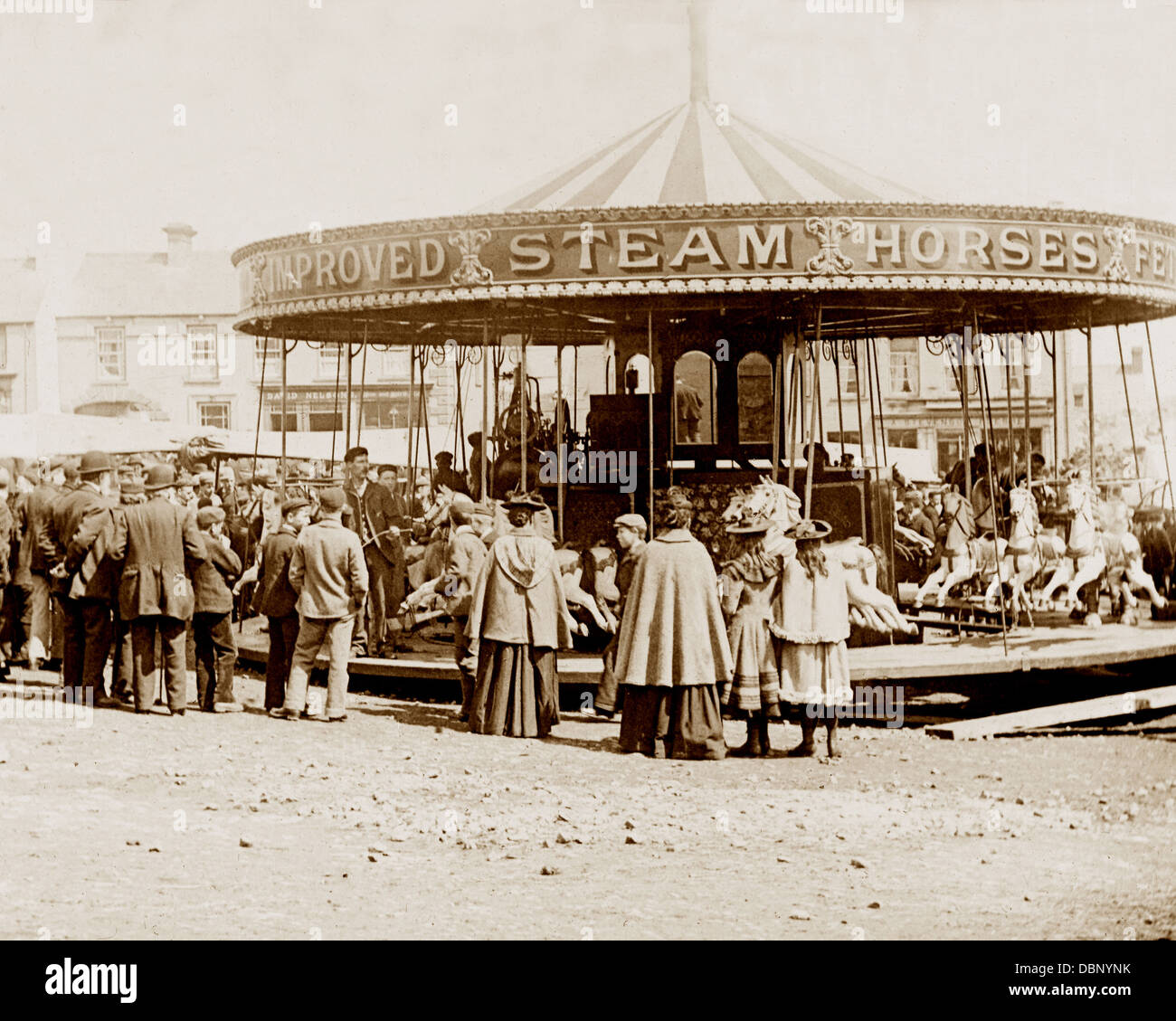 Ballyclare May Fair in 1883 - Stock Image