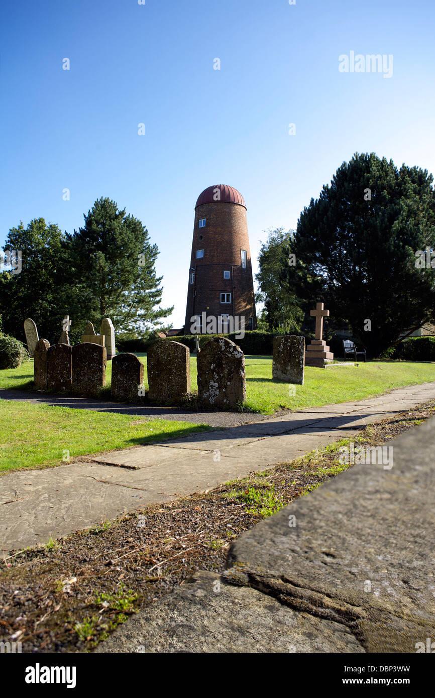 Braunston Mill, Braunston village, Northamptonshire, Northants, England, UK,GB, windmill, rural England, country - Stock Image