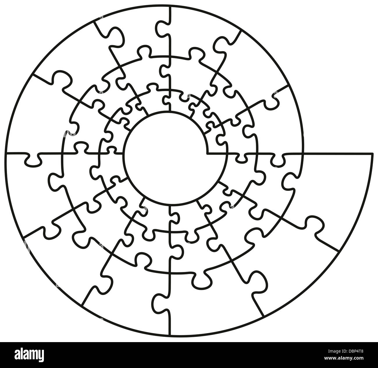 Spiral Puzzle - Stock Image