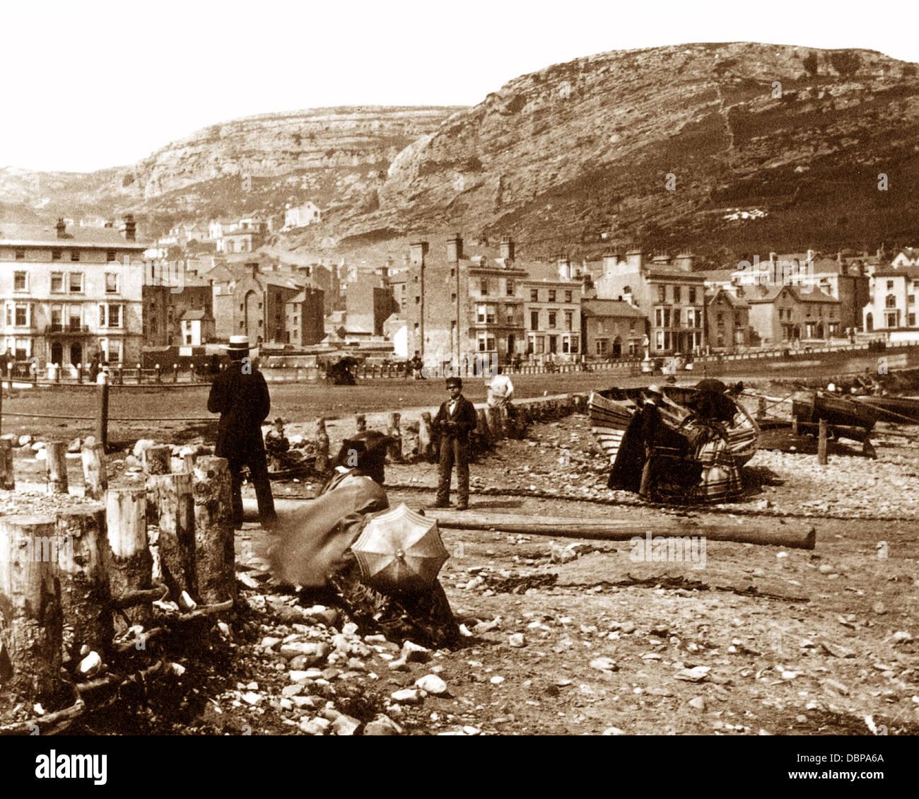 Llandudno Beach in the 1860s - Stock Image