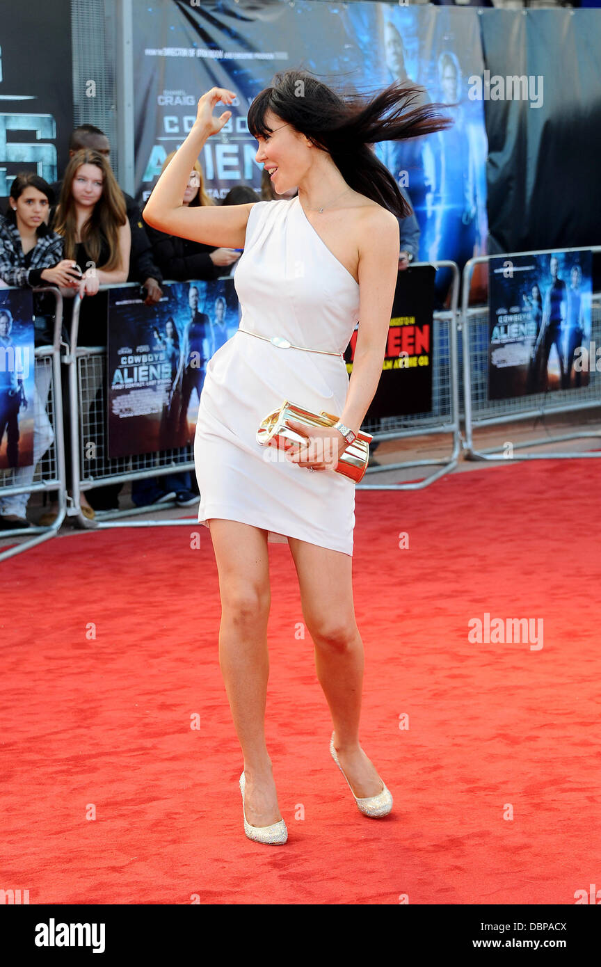 Linzi Stoppard Cowboys & Aliens premiere held at the O2 - arrivals London, England - 11.08.11 - Stock Image