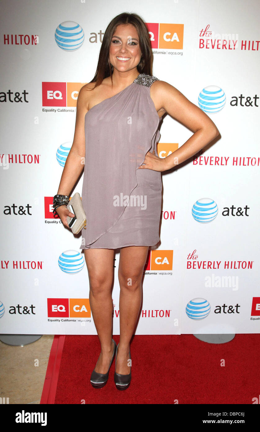 TV personality Raquel Castaneda 2011 Los Angeles Equality Awards held at The Beverly Hilton hotel - Arrivals Los Stock Photo