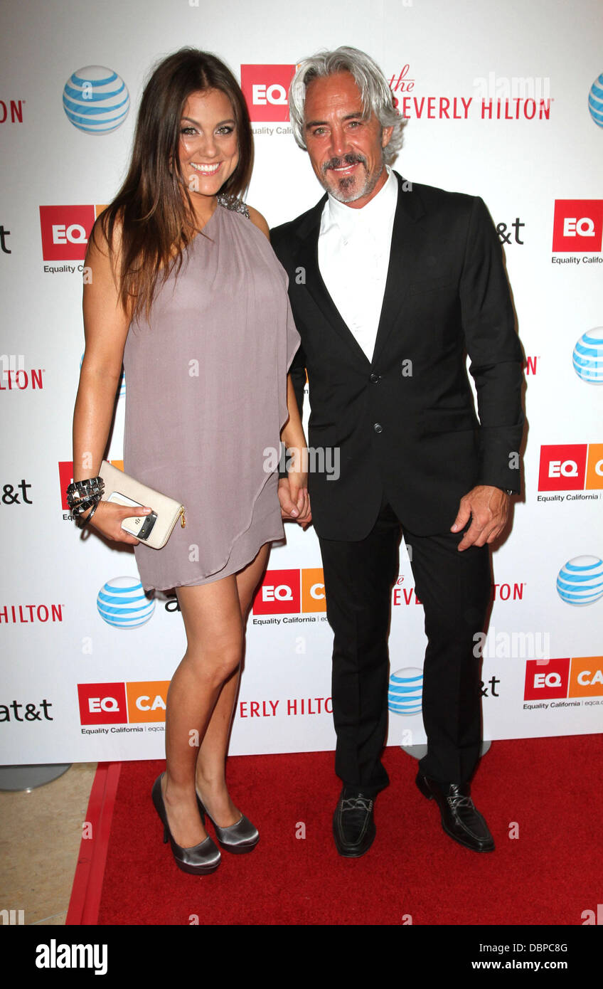 TV personality Raquel Castaneda and Michael Habicht 2011 Los Angeles Equality Awards held at The Beverly Hilton Stock Photo