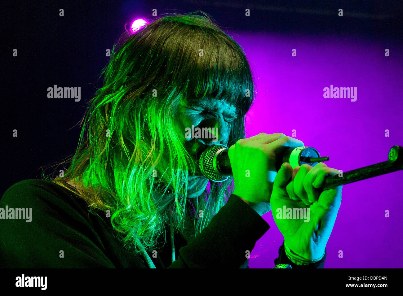 Ariel Pink's Haunted Graffiti Way out West Festival - Day 2 Gothenburg, Sweden - 13.08.11. - Stock Image