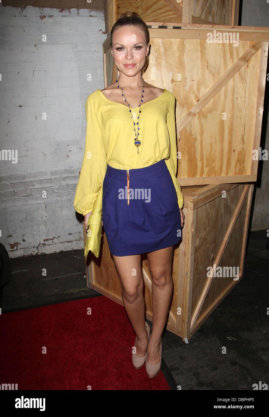 Anya Monzikova Revolution By LG/Verizon Party Held at The Sayers Club Hollywood, California - 17.08.11 - Stock Image