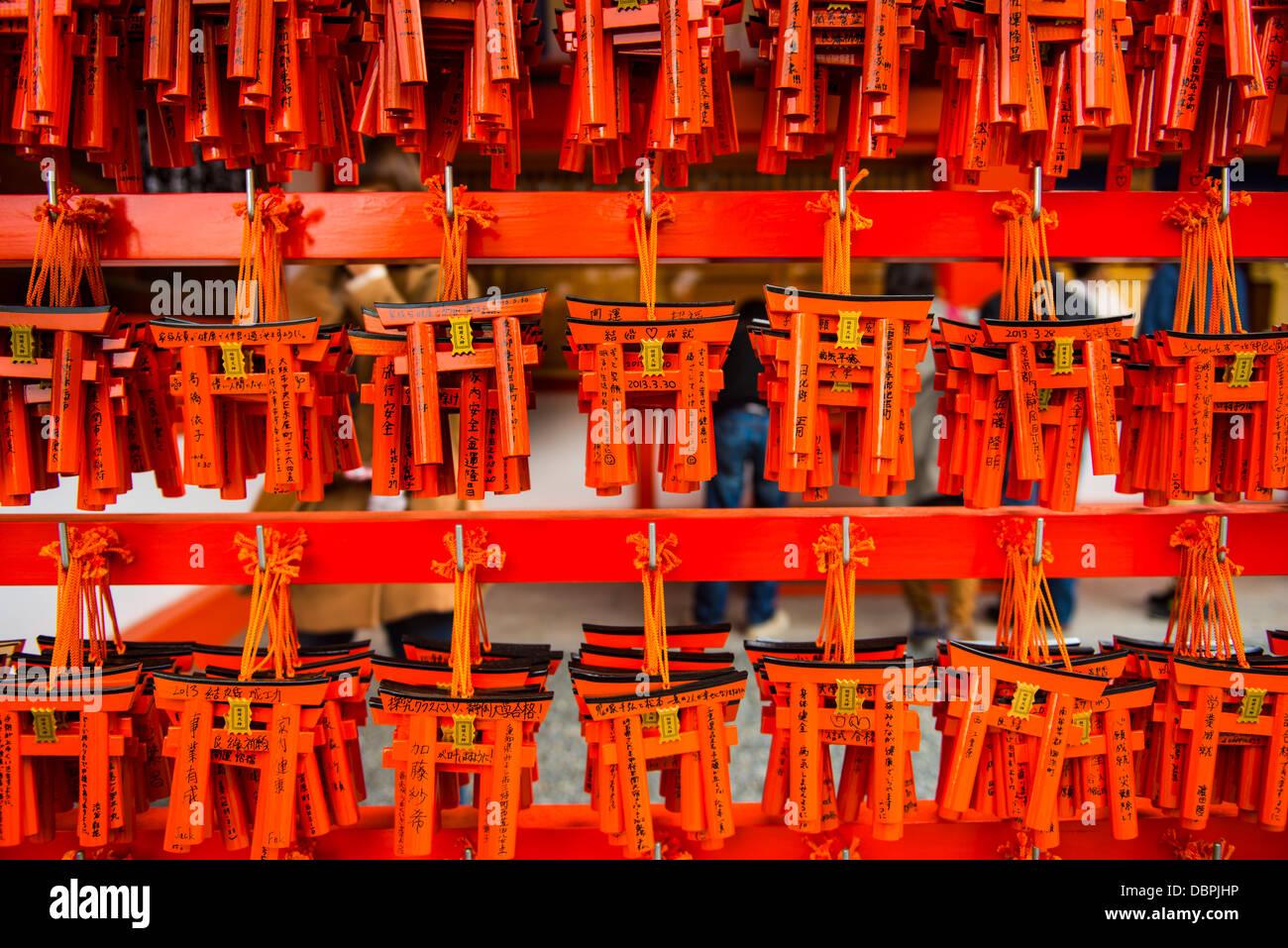 Souvenirs of the Endless Red Gates of Kyoto's Fushimi Inari Shrine, Kyoto, Japan, Asia - Stock Image