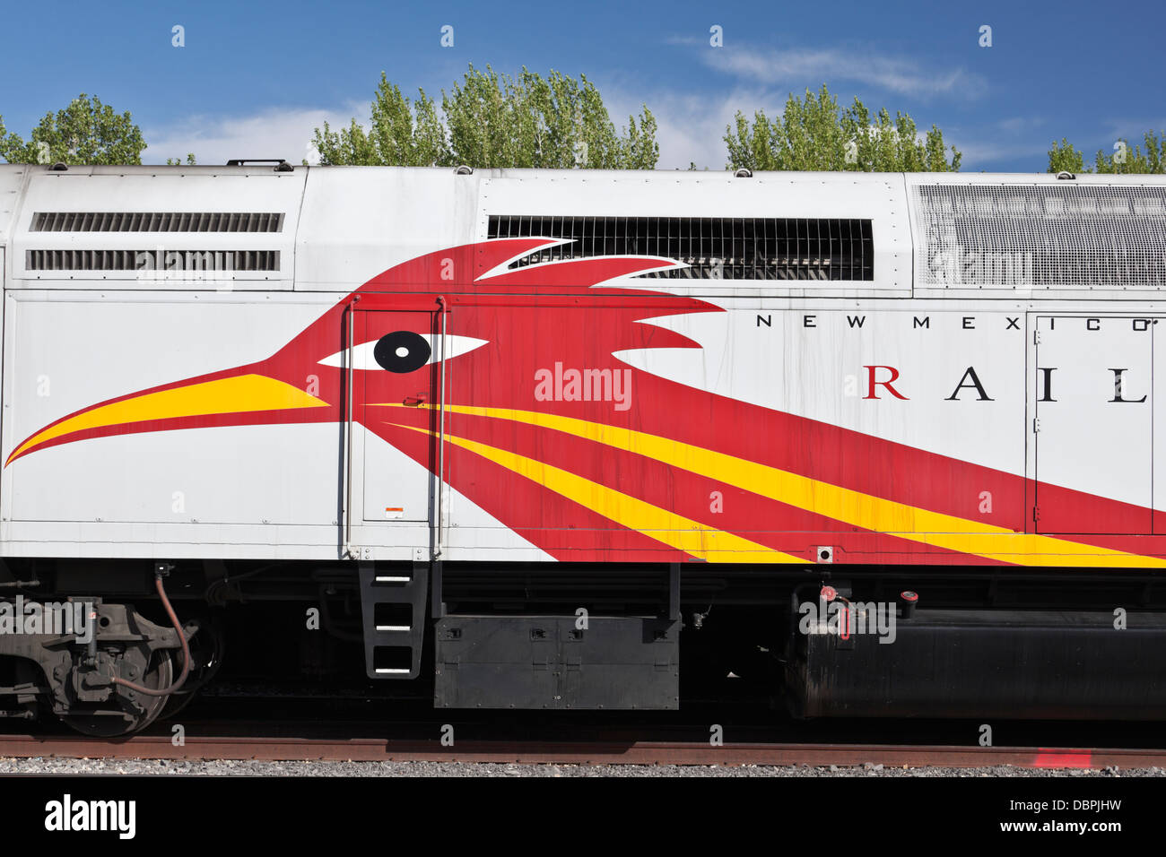 Roadrunner train, Railyard District, Santa Fe, New Mexico, USA. - Stock Image