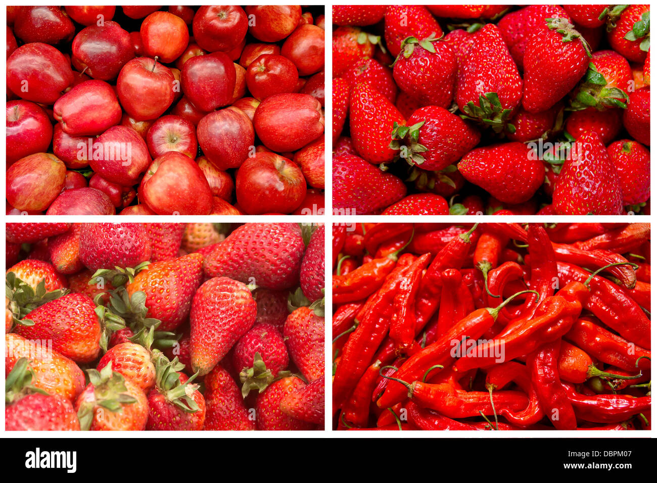 red fruits and vegetables - Stock Image
