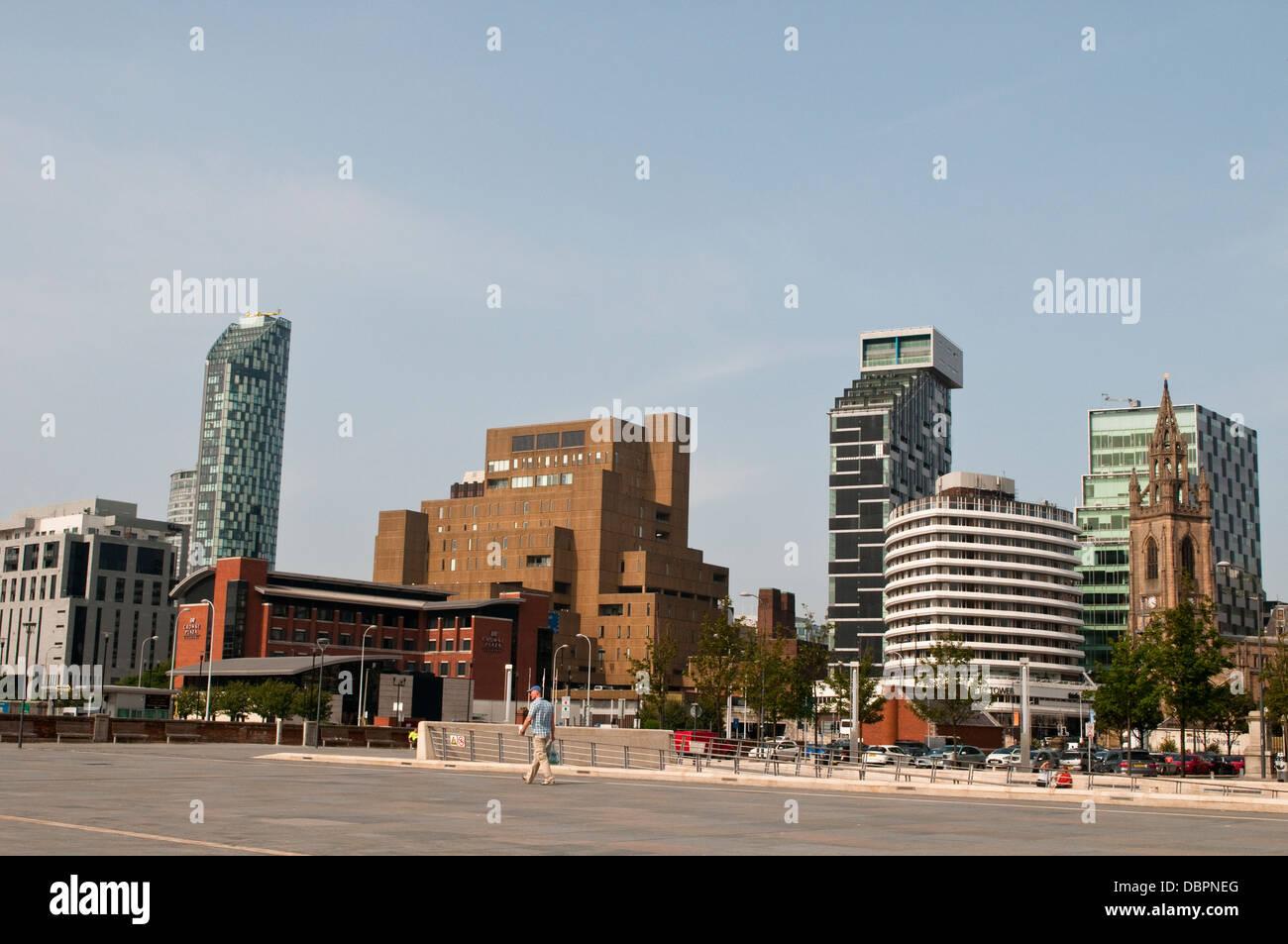 Buildings along New Quay Street, Liverpool, UK - Stock Image
