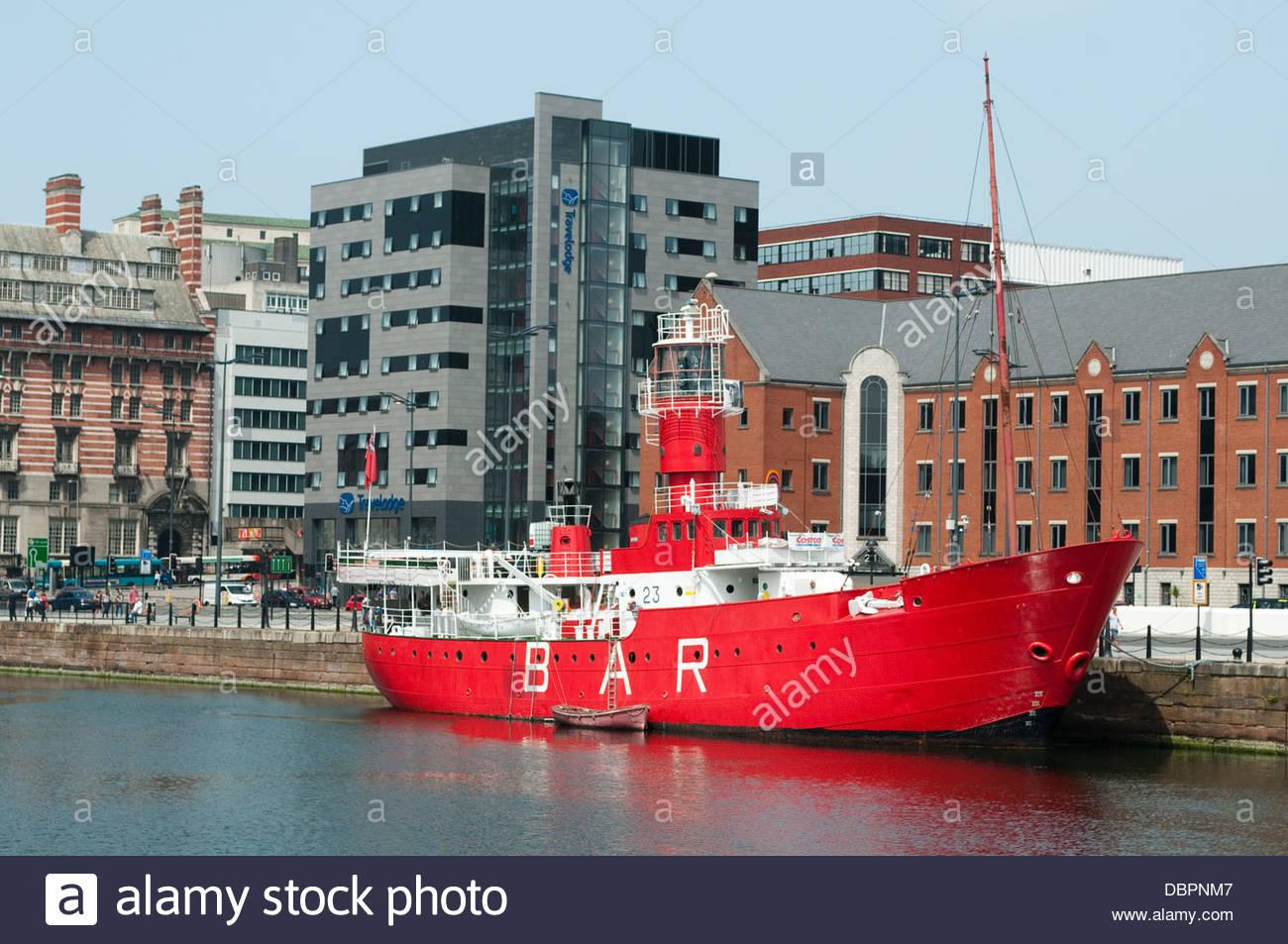 Boat Bar, Cunning Dock, Liverpool, UK - Stock Image