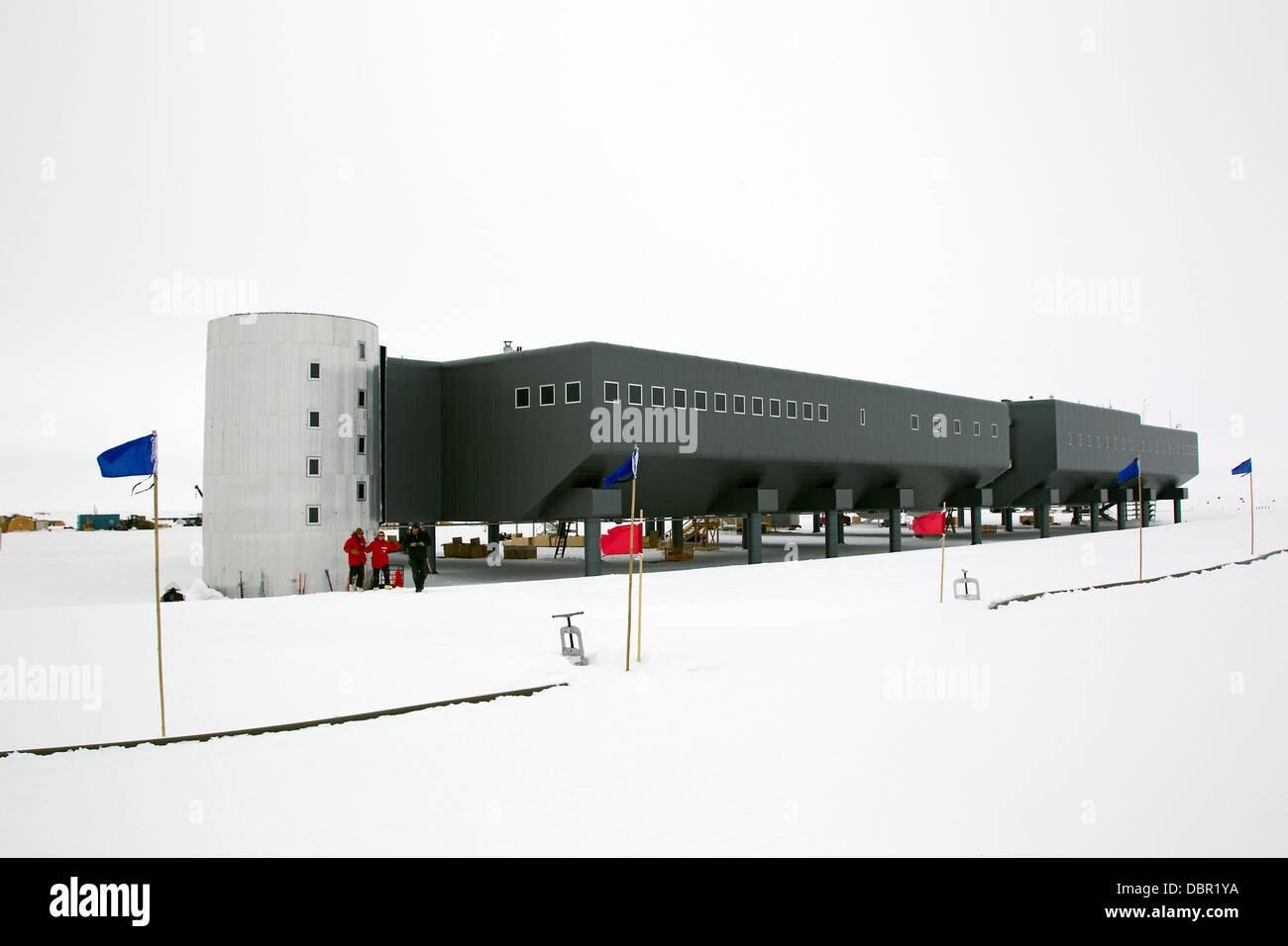Amundsen-Scott South Pole Station, American scientific research station, South Pole, Antarctica - Stock Image