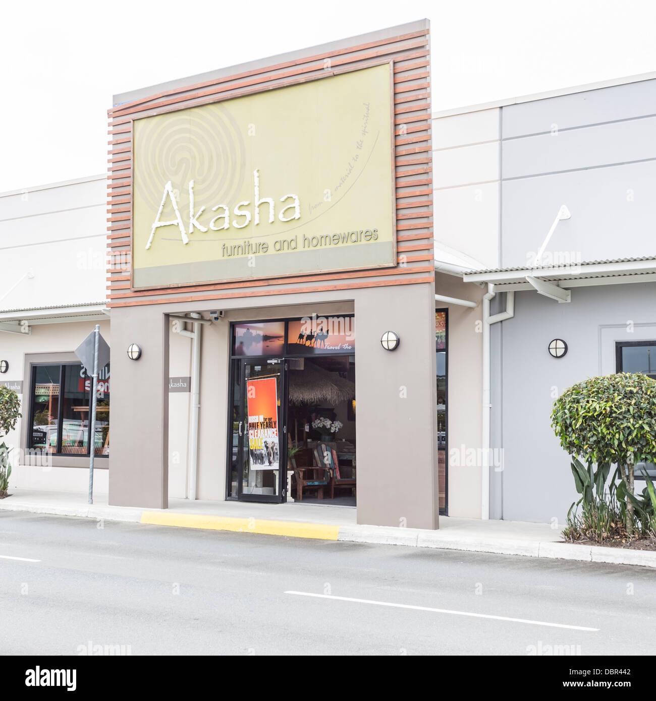 Akasha furniture and homewares store at modern shopping precinct at maroochydore on sunshine coast queensland australia